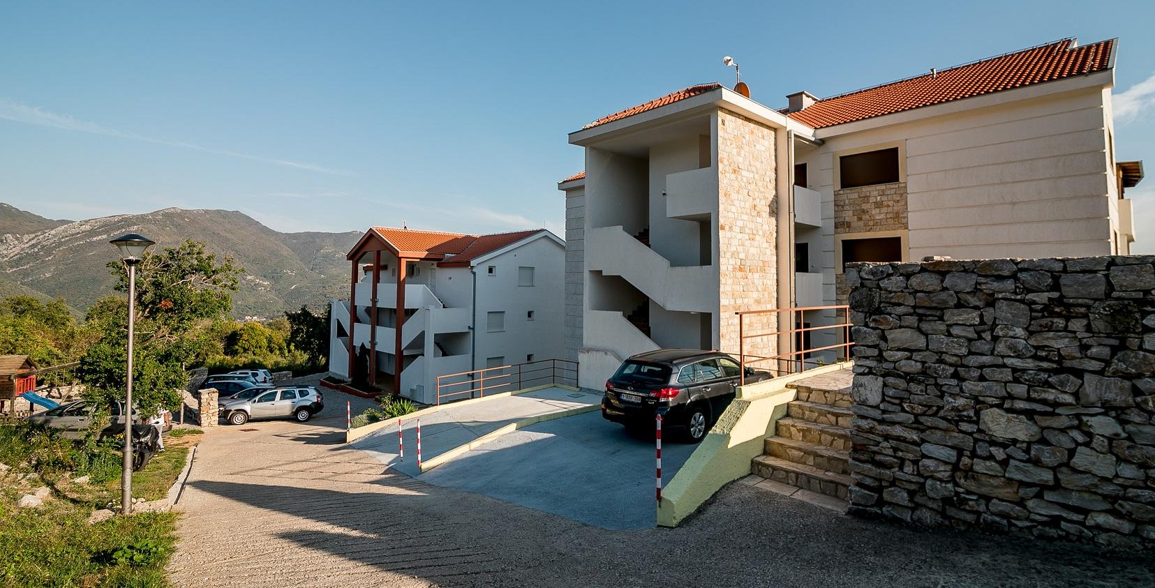 achterkant van Vista Residence I en II